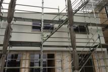 木造福祉施設外壁ガルバ